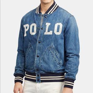 Polo Ralph Lauren Varsity Denim Jacket Sz:XS